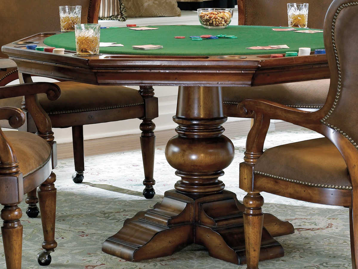 Hooker Furniture Waverly Place Distressed Antique Cherry Game Table