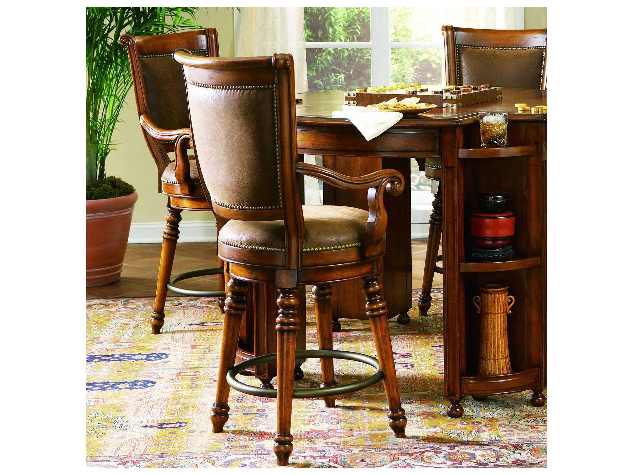 Astonishing Hooker Furniture Waverly Place Distressed Antique Cherry Counter Stool Spiritservingveterans Wood Chair Design Ideas Spiritservingveteransorg