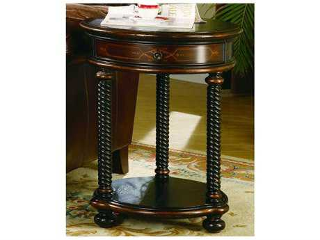 Hooker Furniture Wescott Black 20'' Wide Round End Table HOO98950104