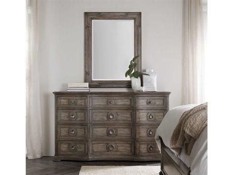 Hooker Furniture Woodlands Triple Dresser with Wall Mirror Set