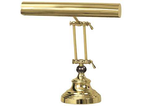 House of Troy Advent Polished Brass Two-Light Piano & Desk Lamp HTAP144261