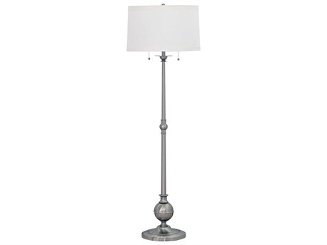 House Of Troy Essex Satin Nickel Two-Light Floor Lamp