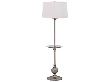 House Of Troy Essex Satin Nickel Floor Lamp