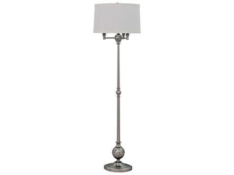 House Of Troy Essex Satin Nickel Floor Lamp
