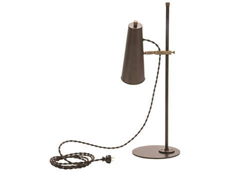 House of Troy Norton Chestnut Bronze / Antique Brass Accents LED Desk Lamp HTNOR350CHBAB