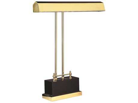 House of Troy Polished Brass Two-Light Piano & Desk Lamp HTP14D01