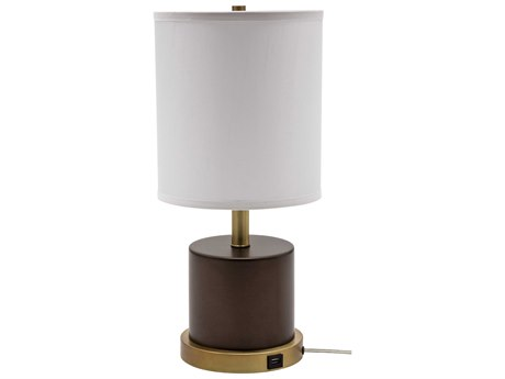 House Of Troy Rupert Chestnut Bronze With Weathered Brass Accents Table Lamp