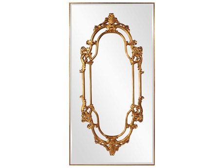 Howard Elliott Akira 47 x 91 Gold Wall Mirror