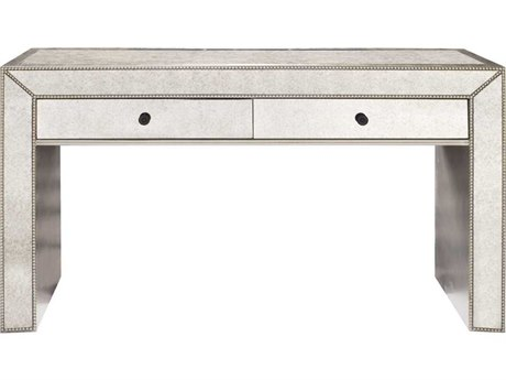 Howard Elliott Antiqued Mirrored 56'' W x 18'' D Rectangular Console Table
