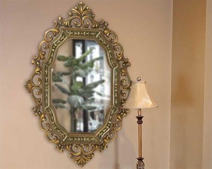 Howard Elliott Ariana 30 x 40 Gold Wall Mirror HE11059
