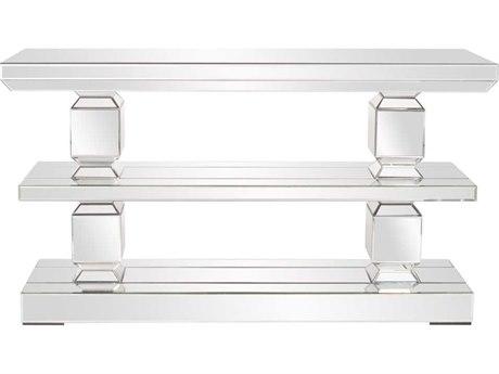 Howard Elliott Athens 63 x 17 Rectangular Gray Mirrored Console Table