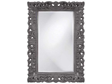 Howard Elliott Barcelona 32 x 46 Charcoal Gray Wall Mirror