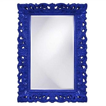 Howard Elliott Barcelona 32 x 46 Royal Blue Wall Mirror
