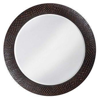 Howard Elliott Bergman 54 Round Black Wall Mirror HE2128