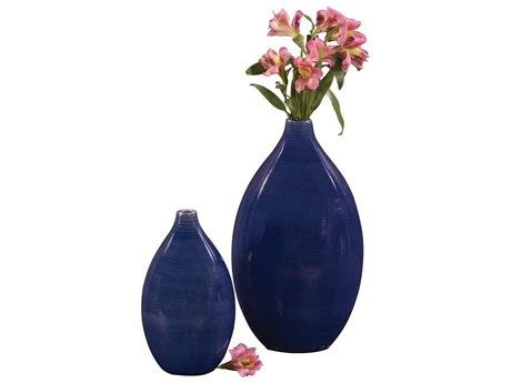 Howard Elliott Cobalt Blue 7 x 12 Blue Vase