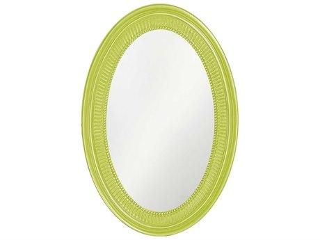 Howard Elliott Ethan 21 x 31 Glossy Moss Green Wall Mirror HE2110MG