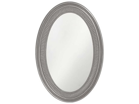 Howard Elliott Ethan 21 x 31 Glossy Nickel Wall Mirror