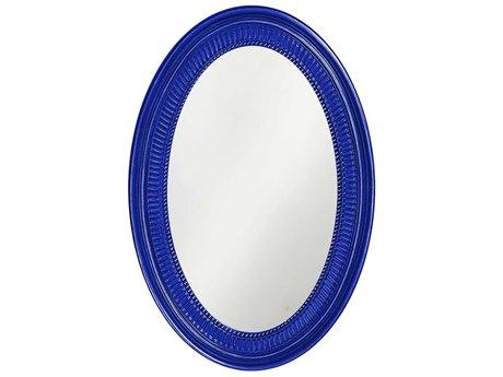 Howard Elliott Ethan 21 x 31 Glossy Royal Blue Wall Mirror