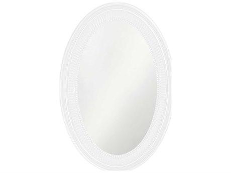 Howard Elliott Ethan 21 x 31 White Wall Mirror
