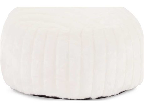 Howard Elliott Mink Snow Foot Pouf HE871256