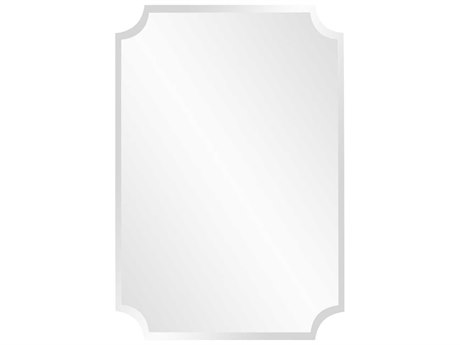 Howard Elliott 24 x 36 Frameless Rectangle Scalloped Wall Mirror