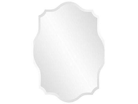 Howard Elliott 24 x 32 Frameless Oblong Scalloped Wall Mirror HE36010