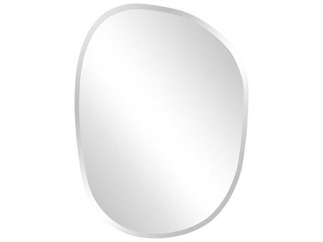 Howard Elliott Frameless 18''W x 24''H Assymetrical Mirrored Wall Mirror