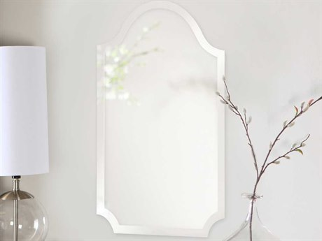 Howard Elliott Frameless 16'' W x 27'' H Arched Wall Mirror