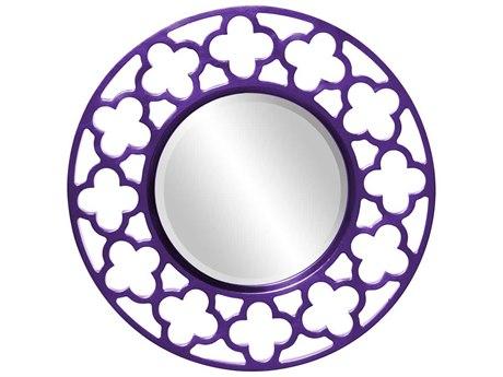 Howard Elliott Gaelic 20'' Round Royal Purple Wall Mirror HE92007RP
