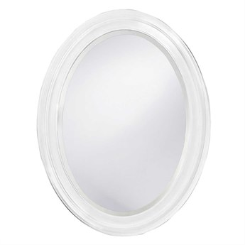 Howard Elliott George 25 x 33 White Wall Mirror