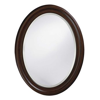 Howard Elliott George 25 x 33 Chocolate Brown Wall Mirror