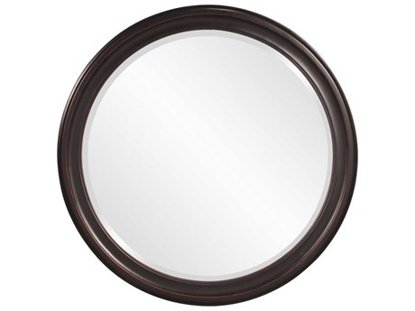 Howard Elliott George 36 Round Bronze Round Wall Mirror