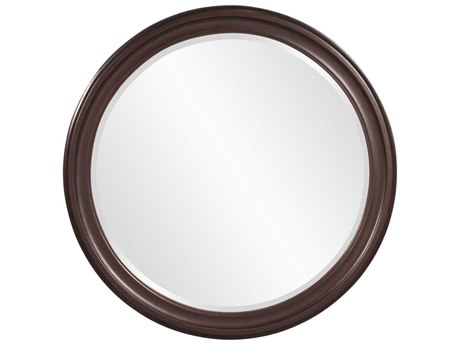 Howard Elliott George 36 Round Brown Round Wall Mirror