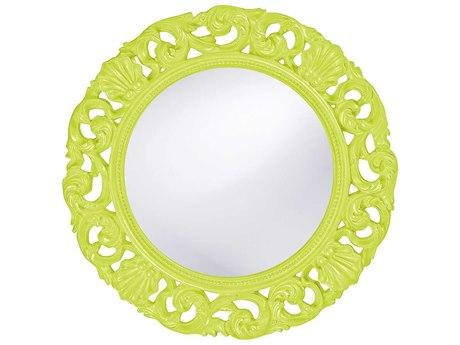 Howard Elliott Glendale 26 Round Green Wall Mirror HE2170MG