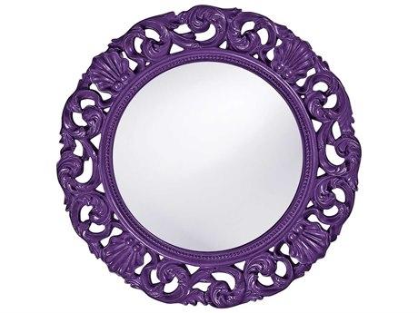 Howard Elliott Glendale 26 Round Royal Purple Wall Mirror HE2170RP
