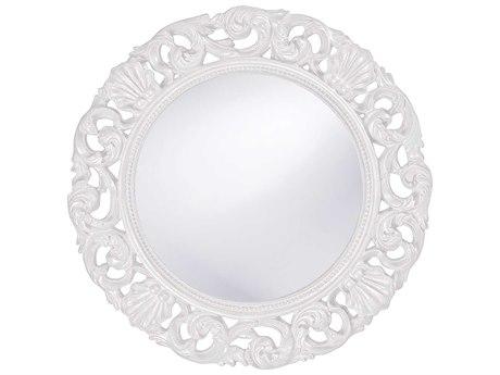 Howard Elliott Glendale 26 Round White Wall Mirror