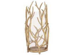 Gold Branches Hurricane Large Candleholder