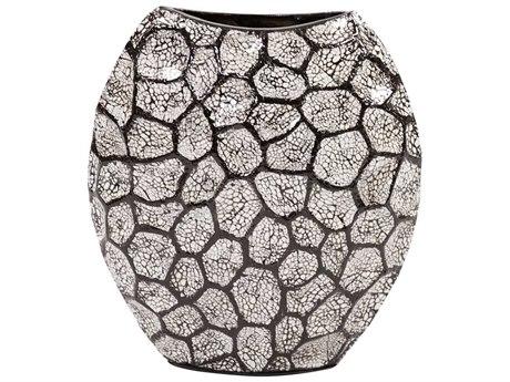 Howard Elliott Black & White Honeycomb Vase Small HE25120