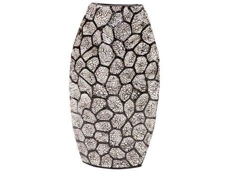 Howard Elliott Black & White Honeycomb Vase Tall HE25121