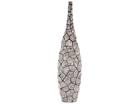 Howard Elliott Black & White Honeycomb Bottle Vase HE25124