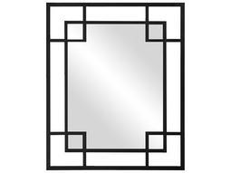 Lois 43 x 53 Black Wall Mirror