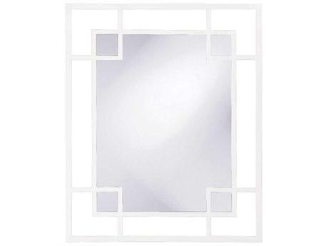 Howard Elliott Lois 43 x 53 White Wall Mirror