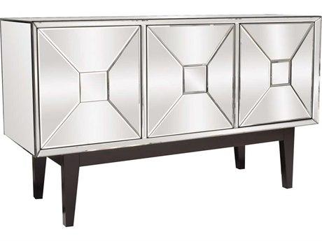 Howard Elliott 54'' W x 18.5'' Pyramid Door Mirrored Cabinet Buffet HE68086