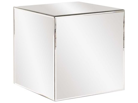 Howard Elliott Mirrored Cube 16'' Square End Table