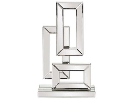Howard Elliott Abstract Geometric Mirrored Sculpture Small