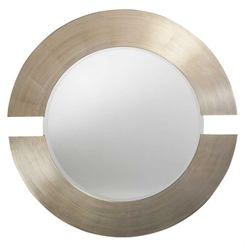 Howard Elliott Orbit 38 Round Grey Wall Mirror HE2180