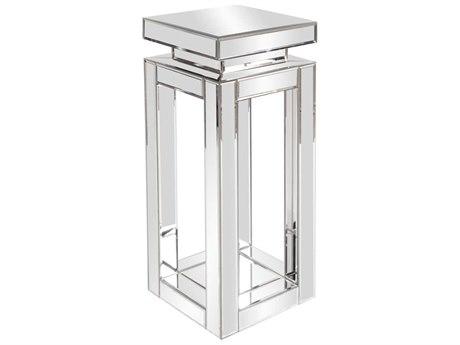 Howard Elliott Small Mirrored Pedestal Table HE11184