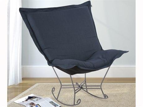Howard Elliott Linen Slub Indigo Puff Chair Cushion