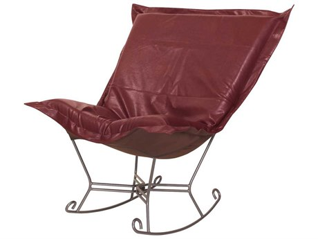 Howard Elliott Avanti Apple Scroll Puff Rocker Chair - Titanium Frame HE600193