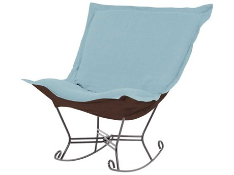 Howard Elliott Sterling Breeze Scroll Puff Rocker Chair - Titanium Frame HE600200